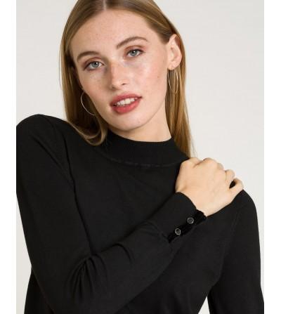 Jersey Negro de Punto Ajustado