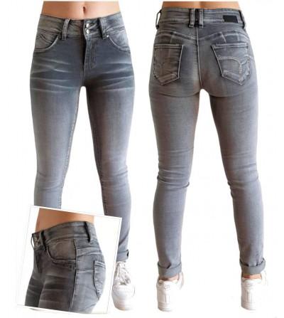Jeans Push Up Gris Lavado