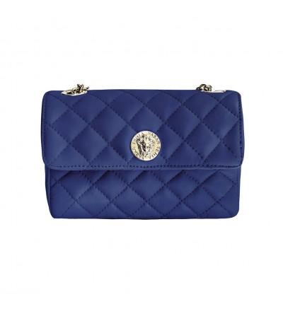 Bolso Piel Acolchado Azul