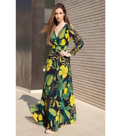 Vestido Largo Floral Antonia