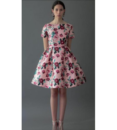 Vestido Velvet Flores