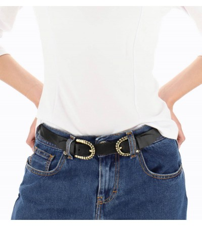 Cinturón de Piel con Doble...