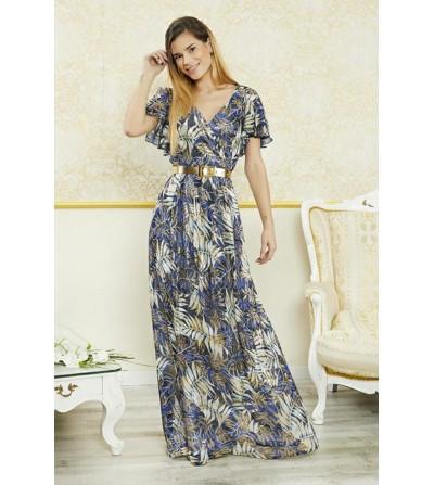 Vestido Largo Flores...