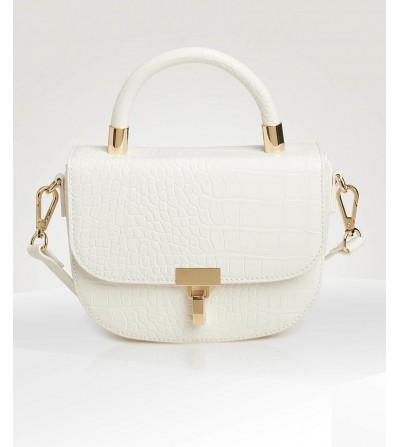Bolso Blanco con Textura y...