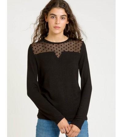 Camiseta Negra Plumeti