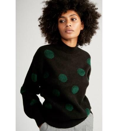 Jersey Negro Topos Verdes