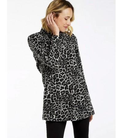 Abrigo Lana Leopardo