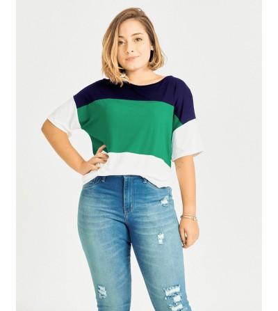 Camiseta Básica Tricolor
