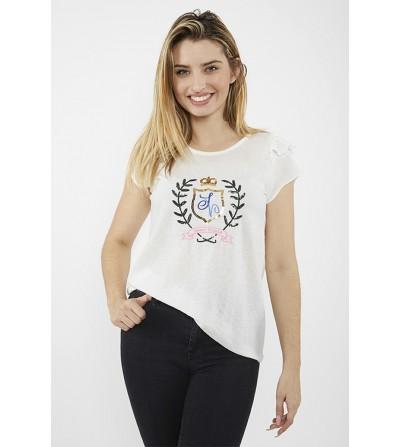 Camiseta Escudo  Bordado