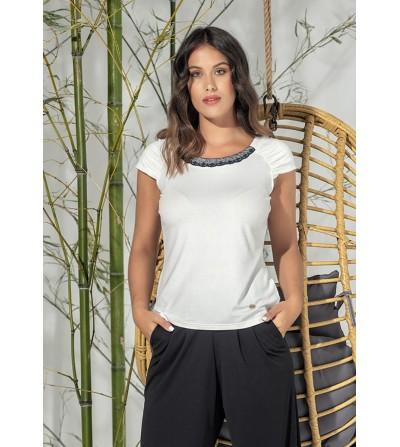 Camiseta Blanca Cuello...