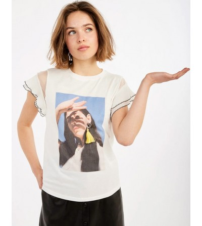 Camiseta con Foto y Pendiente
