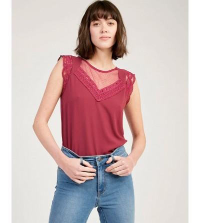 Camiseta Escote Plumeti