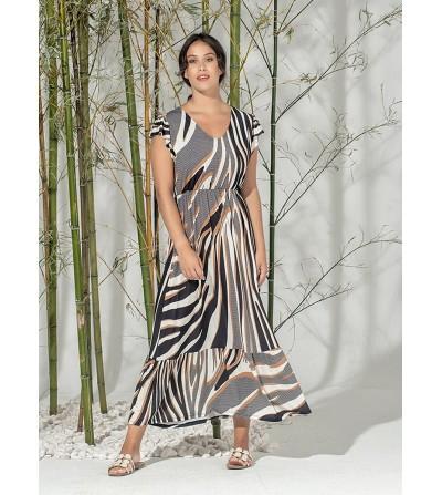 Vestido Largo Cebra