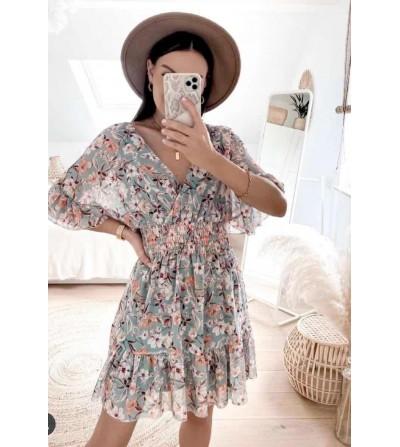 Vestido Flores Wasabi