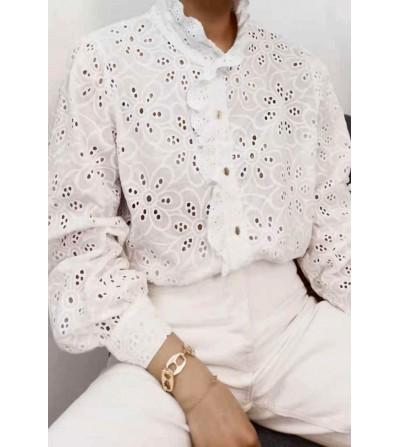 Camisa Blanca Flores...