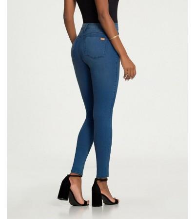 Jeans Skinny Azul Desgastado
