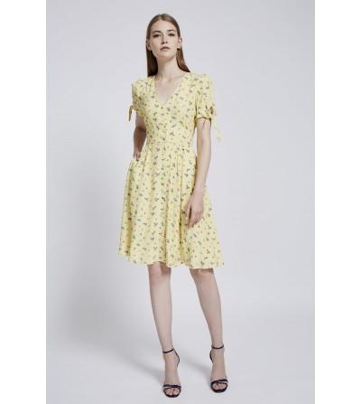 Vestido Midi Amarillo...